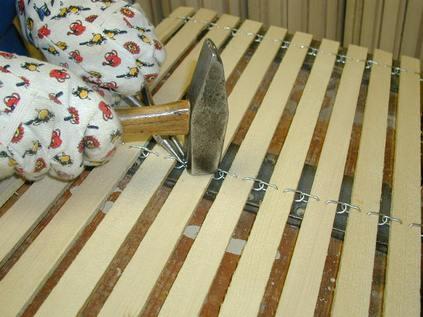 Holzmatten nacharbeiten / ablängen