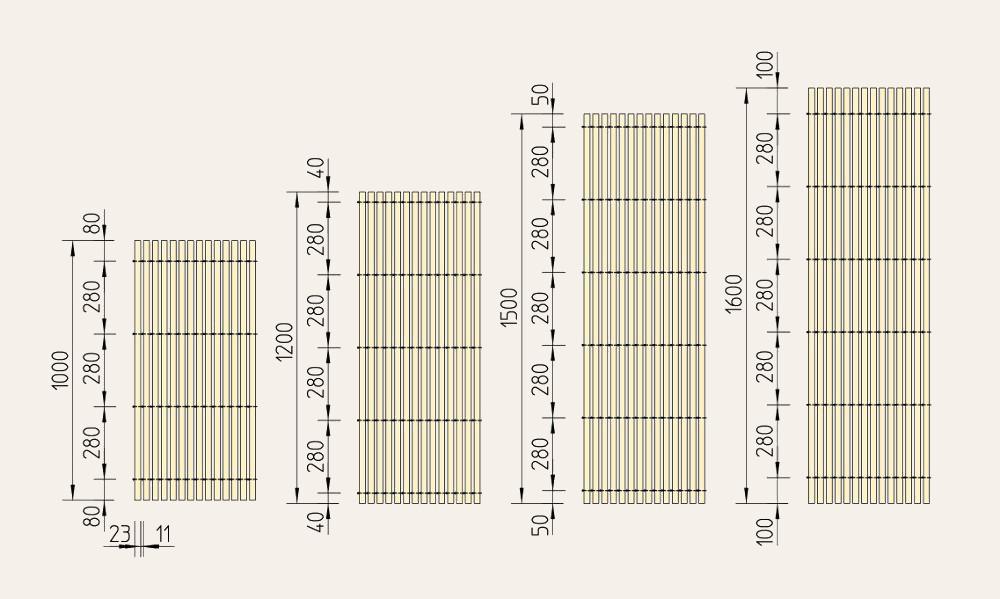 Holzmatten-Maße
